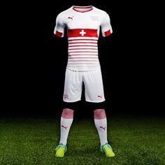 Camisa away da Suiça para 2016