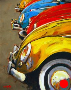 car art Parade Of Colours by Susie Cipolla Cool Car Drawings, Art Drawings, Drawing Art, Art Gallery, Automotive Art, Automotive Furniture, Car Painting, Oeuvre D'art, Painting Inspiration