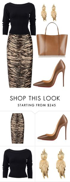 """style theory by Helia"" by heliaamado ❤ liked on Polyvore featuring Tamara Mellon, Christian Louboutin, Donna Karan, Oscar de la Renta and Dolce&Gabbana"
