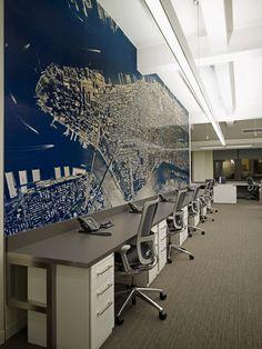 Manhattan ariel photo wallcovering
