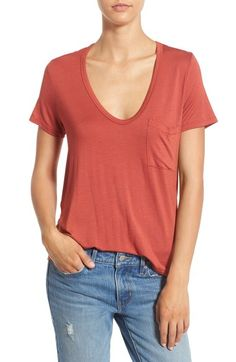 Lush Deep-V Neck Tee available at #Nordstrom