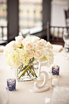 Love the lace wrapped votives. Such a great idea to add a little romantic touch to a table. via StyleMePretty.com, Zev Fisher Photography