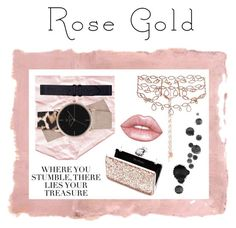 """Treasures"" by sini-harju on Polyvore featuring Rothko, Erickson Beamon, Miss Selfridge, Lime Crime, rosegold and contestentry"