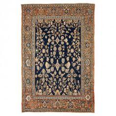 Antique Mahal Wool Rug - 8 1 x12