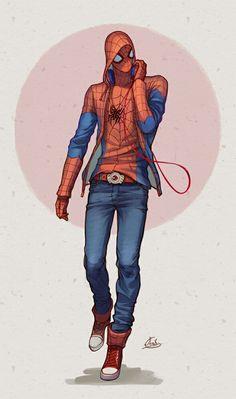 Spiderman spiderman can do whatever he wants.Cuz he's spiderman. Here comes batmaaan Spideypool, Superfamily, Hq Marvel, Marvel Dc Comics, Marvel Heroes, Marvel Man, Manga Comics, Comic Books Art, Comic Art