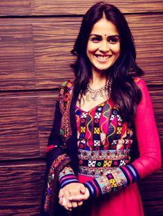 Rajasthani embroidery!! Amazing!! Love this on Genilia DSouza