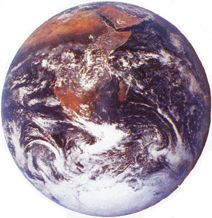 Our Planet and Solar System  UrantiaEarth—Urantia—is the planet of our birth. Urantia is one of twelve original planets which orbits the sun of our solar system. Our solar system spins through space on the fringes of the gigantic seventh superuniverse. The center of our superuniverse is the Milky Way Galaxy. We are one of many inhabited planets, part of a vast universe alive with various orders of intelligent and friendly beings.