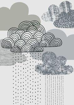 Looks+Like+Rain+limited+edition+giclée+par+EloiseRenouf+sur+Etsy,+$25.00