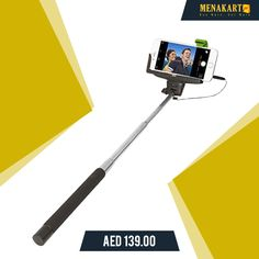 ReTrak Selfie Wired Selfie Stick #selfiestick #selfie #capture #moments #online #picture #photo #shopping #menakart