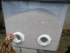 DIY No Waste Feeder (might try this with 5-gallon buckets instead, since I have some of those.) #urbanchickens