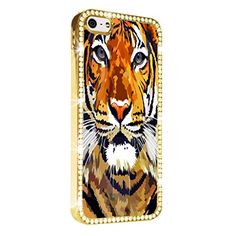 Tiger Indian Print Gold iPhone 5/5S Case Luxury Style Cover Diamond Crystal Rhinestone Bling Hard Gold Case Cover for iPhone 5 and 5S PAZATO http://www.amazon.com/dp/B00NQTFTC6/ref=cm_sw_r_pi_dp_6Hziub187VZYM