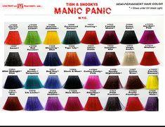 Manic Panic Color Sample Vegan Non Toxic Semi Perminantly Vegetable Dye Safer Than Chalk