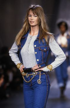 Chanel Fall 1993 Claudia Schiffer
