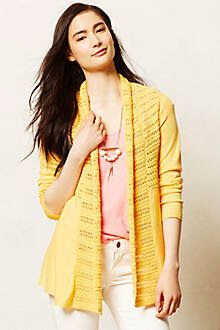 0bc76eed8ec Angel of the North Visionary Backpleat Cardigan Open front spring cardigan  sweater from Anthropologie.