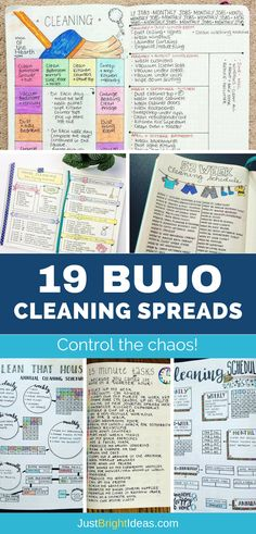 If you struggle to keep your home clean and tidy you're going to love today's Bullet Journal cleaning schedules. Pick out the spread that you love the most and stay on top of the chores once and for all! Bullet Journal Cleaning Schedule, Planner Bullet Journal, How To Bullet Journal, Cleaning Checklist, Bullet Journal Layout, Bullet Journal Inspiration, Cleaning Hacks, Cleaning Schedules, Bullet Journal Stencils