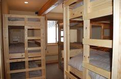 Bedroom #6/Bunk Room with 3 Triple Bunks!