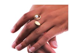 Ring «Perl-Zweierlei» by Angela Hübel