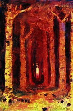 Sunset in the forest - Kuindzhi Arkhip - WikiArt.org - the encyclopedia of painting - WikiArt.org - the encyclopedia of painting