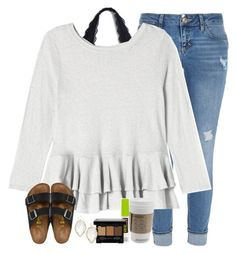 """""""enter my contest please!❤️"""" by legitmaddywill ❤ liked on Polyvore featuring River Island, Rebecca Taylor, Maybelline, NYX, Kendra Scott and Birkenstock"""