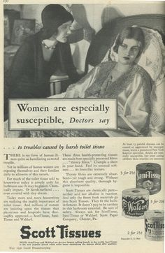 Vintage ads-- This article made me thankful for the Women's Movement....