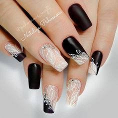 Beautiful nails by with Ugly Duckling Fufu Pink acrylic❤ ✨Ugly Duckling Nails page is dedicated to promoting quality, inspirational nails created by International Nail Artists💖 Black Nail Designs, Acrylic Nail Designs, Nail Art Designs, Acrylic Nails, Nails Design, Swag Nails, Fun Nails, Pretty Nails, Grunge Nails