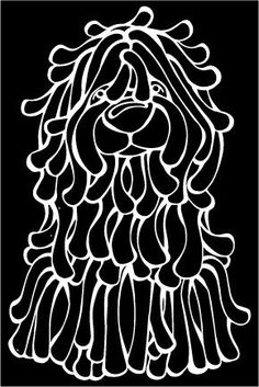 The Decal Dog of the Day is the Puli.  Show off your love for your Soulmutt with a Decal Dog Car Window Sticker. #decaldogs #dogsofpinterest #Puli