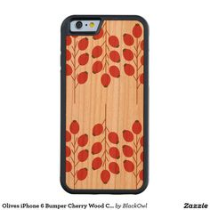 Olives iPhone 6 Bumper Cherry Wood Case Carved® Cherry iPhone 6 Bumper Case