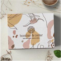 Fall/Winter Beauty Box by Bombay & Cedar Limited Edition 2019 Tea Packaging, Food Packaging Design, Packaging Design Inspiration, Branding Design, Gift Box Design, Soap Display, Diy Ribbon, Logo Sticker, Beauty Box