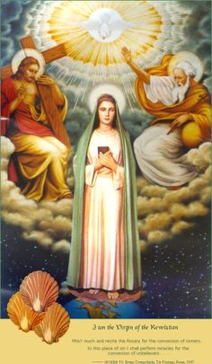 The Virgin of the Revelation. Marian apparition in Rome to man and his 3 children. Conversion of non-believer Bruno Comacchhiola.