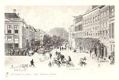 Zwolle, Grote Markt, Melkmarkt, de Harmonie on the left, about 1900.