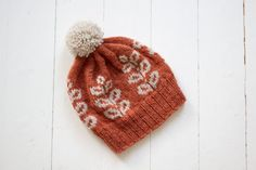 Tähkä-kirjoneulepipo Knitted Hats, Winter Hats, Beanie, Knitting, Fashion, Moda, Tricot, Fashion Styles, Breien