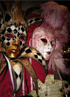 Painted masks of Carnival. Venice, Italy. 2007