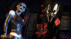 """Why did you have to leave me Mr J?"" -- Harley Quinn (Arkham City, 2011)"