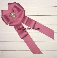 Mauve Pink Bow Brooch (LIMITED EDITION )