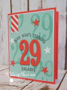 NUMBER OF YEARS stamp set with LARGE NUMBERS FRAMELITS DIES is perfect for personalizing all kinds of cards.