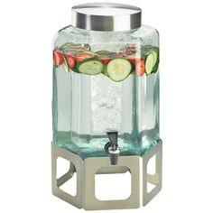10.75W x 11.5D x 22.75H Stainless Steel Cutout Beverage Dispenser 2 Gallon