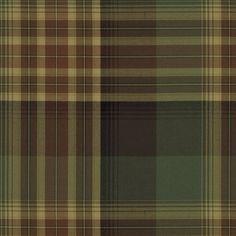 Hanley Plaid - Chestnut/Sage - Plaids & Tartans - Fabric - Products - Ralph Lauren Home - RalphLaurenHome.com