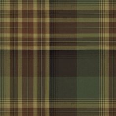 Hanley Plaid - Chestnut/Sage - Plaids & Tartans - Fabric - Products - Ralph Lauren Home - RalphLaurenHome.com