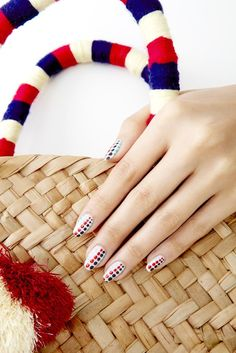 If you like to show your Americana spirit on your fingertips, you can go with the obvious — stars and stripes — or pick a more unexpected motif: dots.