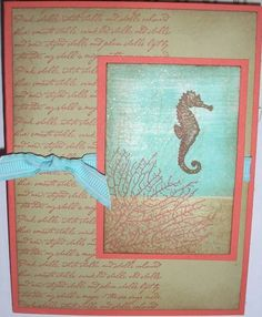By the Tide Seahorse by Nan Cee's - Cards and Paper Crafts at Splitcoaststampers
