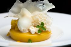 Gordon Ramsay at The London Pastry Chef Ron Paprocki – Recipe: Pineapple Crémeux with Yogurt Sorbet and Sponge, Vanilla Sable, Pineapple Can...