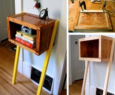 Funky Bedside Tables 7 genius things to use as a bedside table | distressed chair