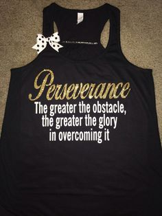 Perseverance Tank - Ruffles with Love - Racerback Tank - Womens Fitness