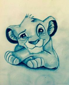 Draw Lions Disney - Simba (König der Löwen) the lion king Drawing Cartoon Characters, Character Drawing, Character Design, Drawings Of Cartoons, Character Sketches, Art Drawings Sketches, Animal Drawings, Cool Drawings, Art Drawings Beautiful