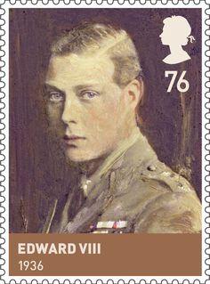 House of Windsor.                           Issued Feb 2012.                                       Edward VIII.                                            1936
