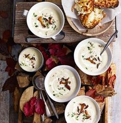 This autumnal soup recipe uses seasonal ingredients such as celeriac, apple and mushrooms to make a rich starter.