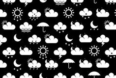 """Nike Dunk """"All Weather"""" - Anton Repponen - Museum of Design Artifacts Textile Patterns, Print Patterns, Cloud Illustration, Rain Go Away, Weather Icons, Going To Rain, Nike Dunks, Creative Director, Art Direction"""