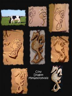 Cow Dragon Metamorphosis by GhostSender
