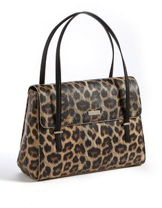 Kate Spade New York Cedar Street Animal Luciana Pebbled Shoulder Bag Leopard