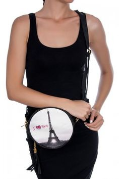 MATRAK SHOP I Love Paris Daire Çanta Lidyana